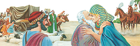 Jacob comes to Egypt and meets with his son Joseph.